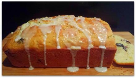 Lemon blueberry zucchini bread-loaf