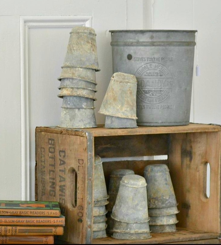 zinc pots - repurposed-zinc